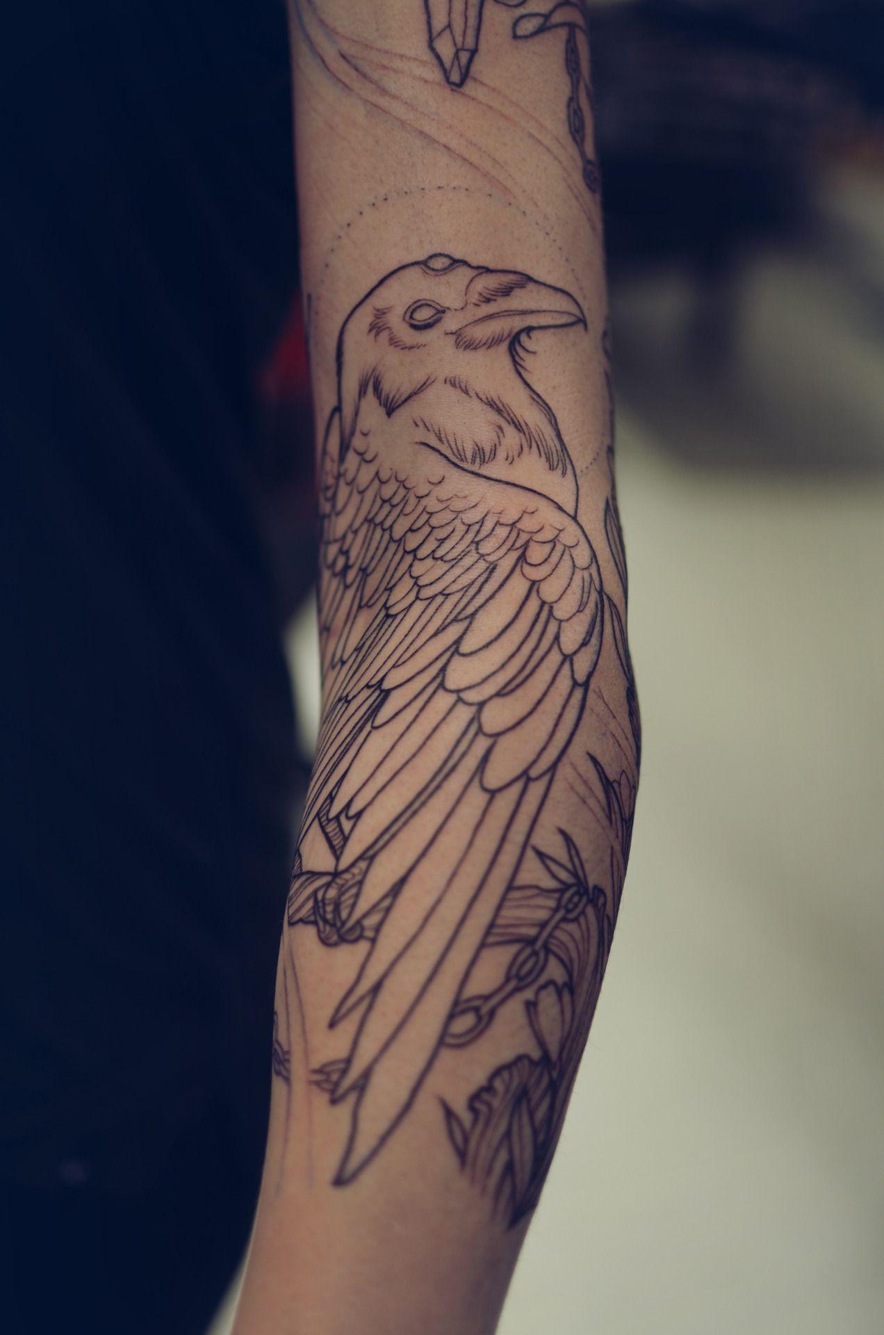 9d388ffdf Placement Forearm Tattoos, Sleeve Tattoos, Bird Tattoos Arm, Animal Tattoos,  Line Work