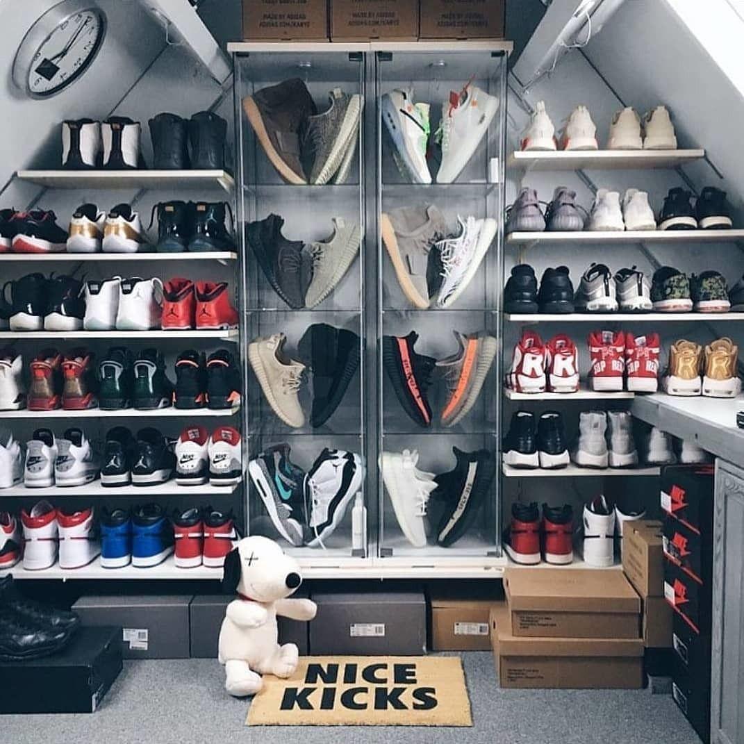 sneakerhead room shoe room