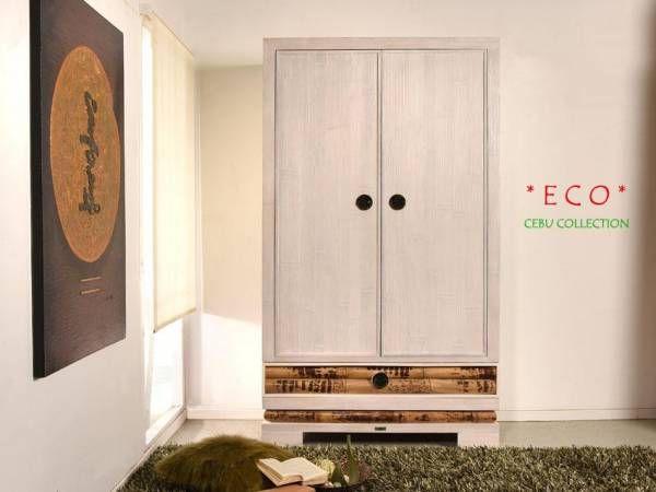 Bambus Kleiderschrank Cebu Eco hell Bambusmöbel für Dein - großer kleiderschrank schlafzimmer