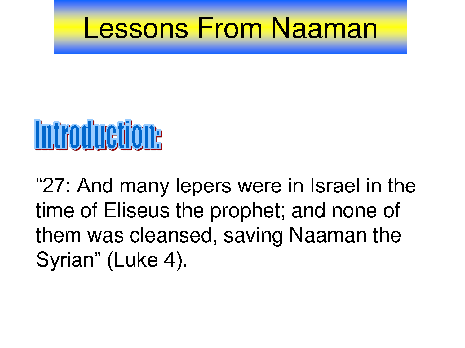 Lessons From Naaman