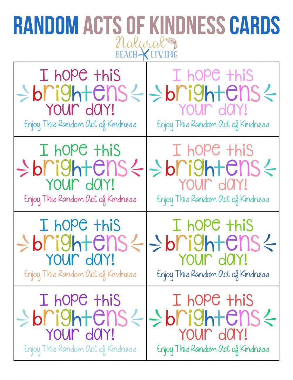 The Best Random Acts of Kindness Printable Cards Free | Girl Scouts ...