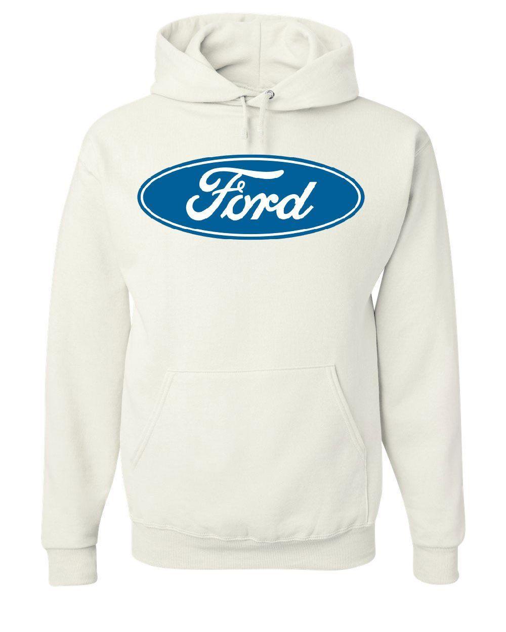 Licensed Ford Logo Hoodie Truck Mustang F150 Muscle Car Sweatshirt