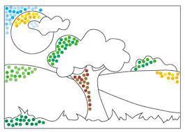 Resultado De Imagen Para Imagenes Para Colorear Con Lineas Dibujos Sencillos Para Ninos Puntillismo Para Ninos Dibujos
