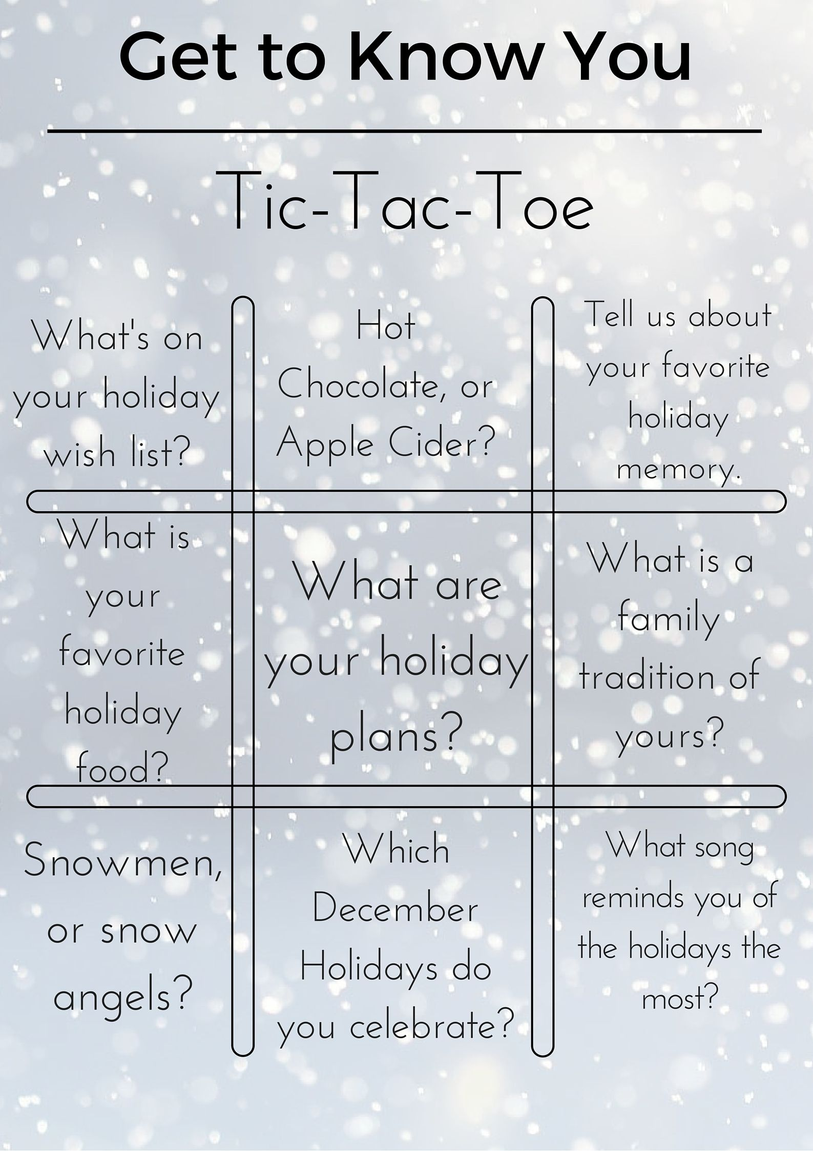 holiday ice breakers