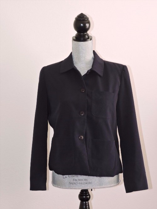 21.99$  Watch here - http://visck.justgood.pw/vig/item.php?t=9y60tf28345 - TravelSmith Blazer Jacket Navy Blue 8P Travel Comfort 3 pockets Button Down Top 21.99$