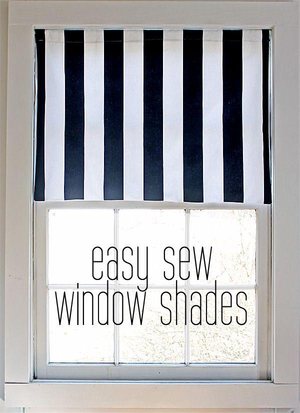 Easy sew window shades   Cortinas, Costura y Coser