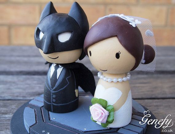 Cute Superhero Wedding Cake Topper Bride And Groom Batman On Etsy 138 20 Aud