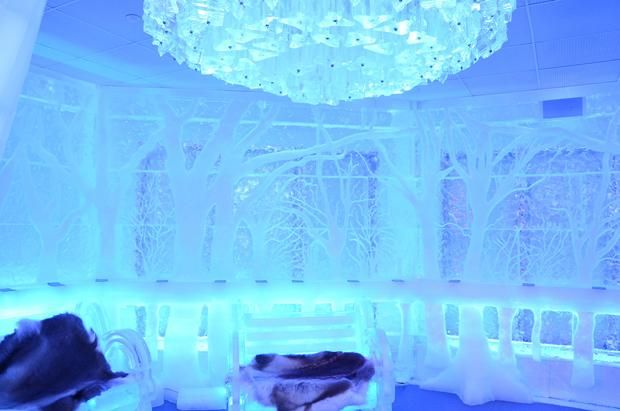 Gorgeous Photos of a Bar Made Entirely of Ice | Mental Floss