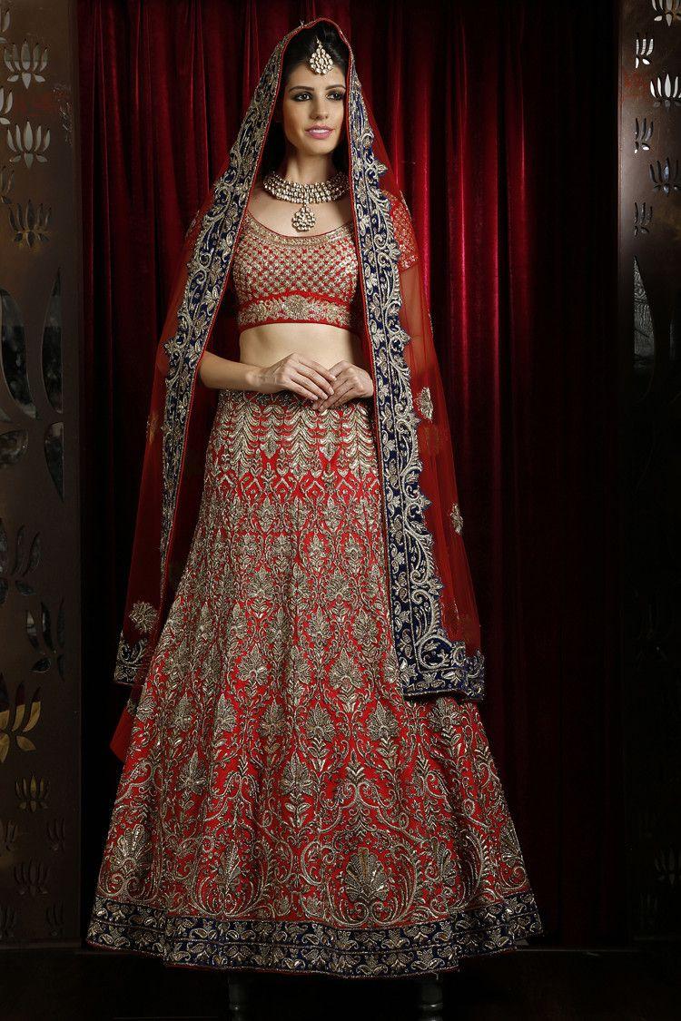 Image Result For Red Bridal Lengha