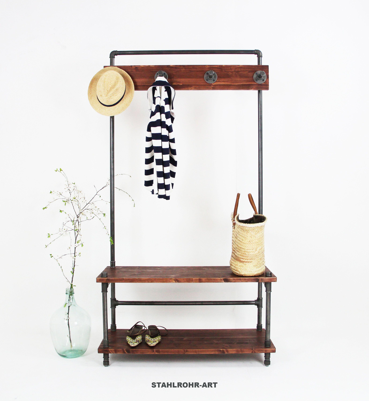 Industriedesign Garderobe Kleiderhaken Kleiderstange Schuhregal