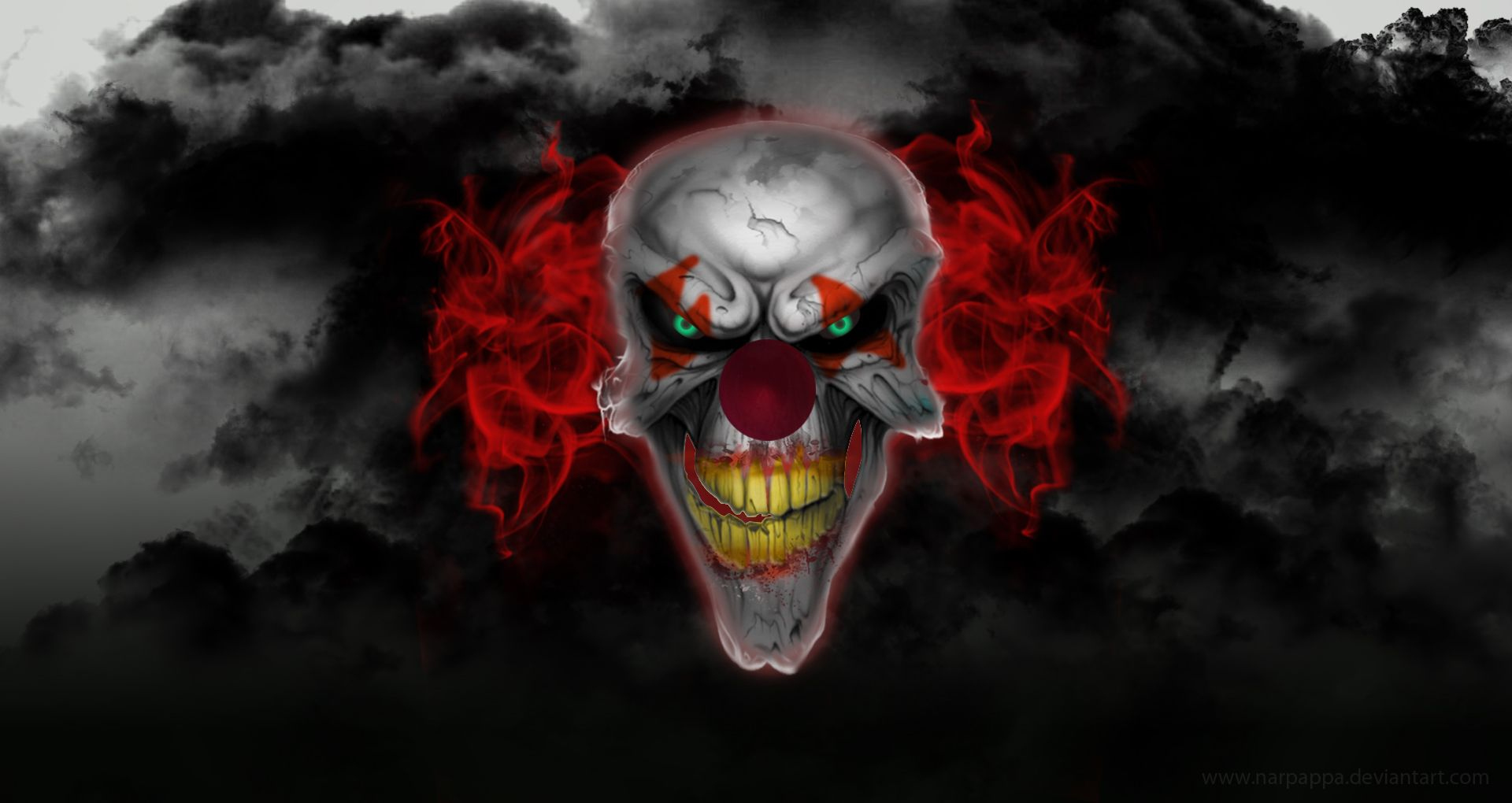 Scary Clown with Red Hair wallpaper from Clowns wallpapers ...