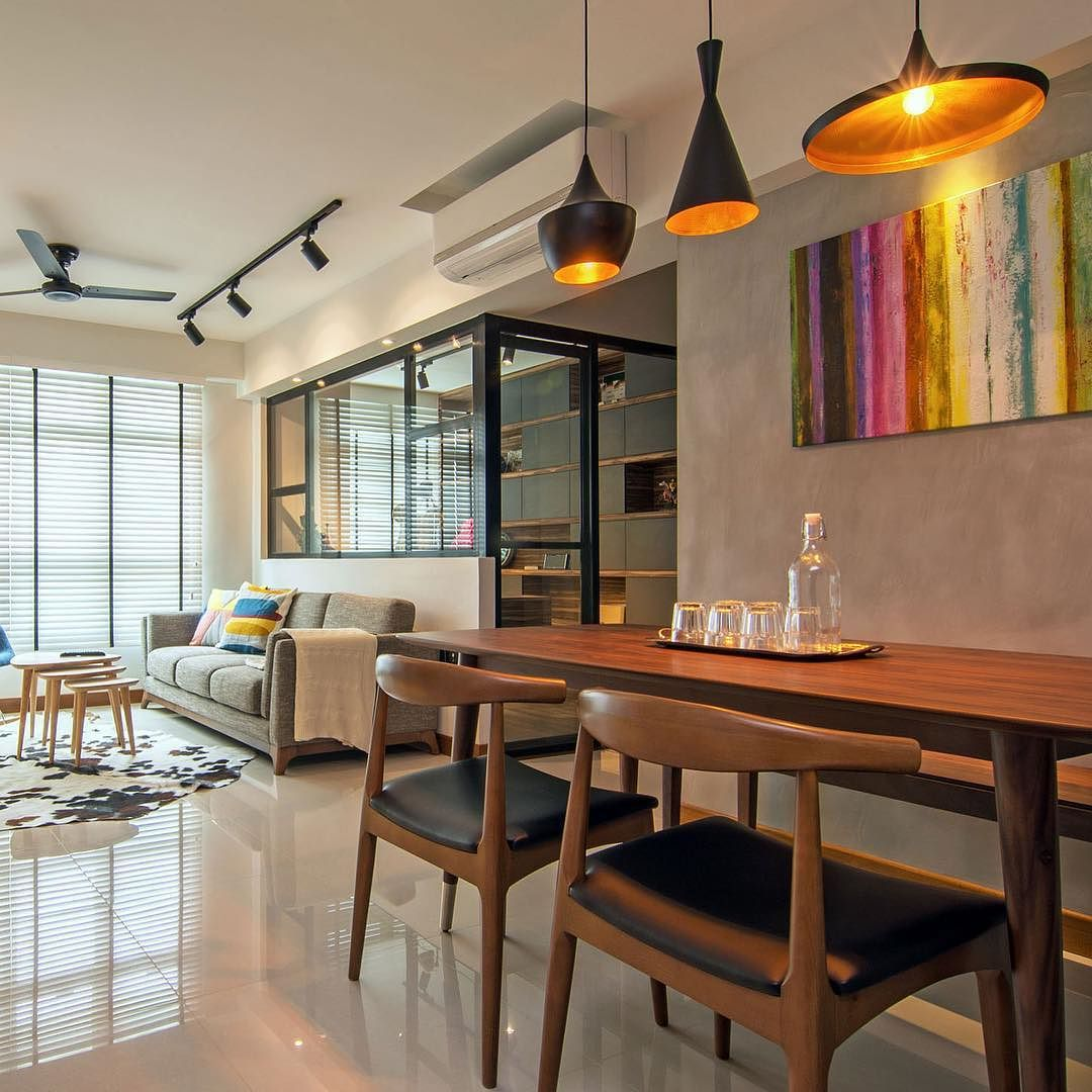 Stylish apartment for young couple in #Singapore by Vievva Designers