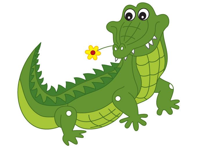 Crocodile Clipart - Digital Vector Crocodile, Animal, African ...