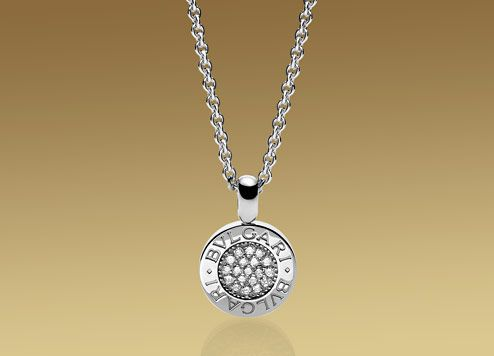 Bvlgari bvlgari pendant with chain in 18kt white gold with pav bvlgari bvlgari pendant with chain in 18kt white gold with pav diamonds mozeypictures Image collections