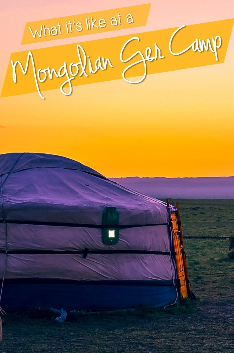 Learn about what it is like to stay at a Mongolian Ger Camp. Learn about what a ger is (the Mongolian yurt) and what to expect when staying at a Ger Camp! #mongolia #ger #gercamp #travelmongolia