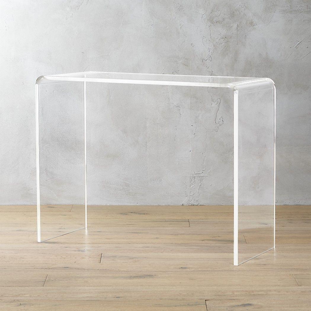 Peekaboo 38 Acrylic Console Table Reviews Cb2 Modern Console Tables Acrylic Table Acrylic Furniture