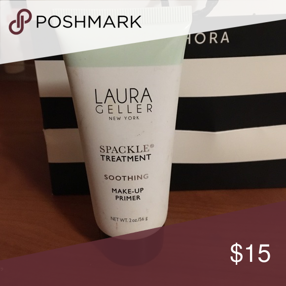 Laura geller sparkle treatment. A great primer that is green toned to conceal redness. I used it once as it was given to me as a gift but I don't really have a lot of red in my skin. laura geller Makeup Face Primer