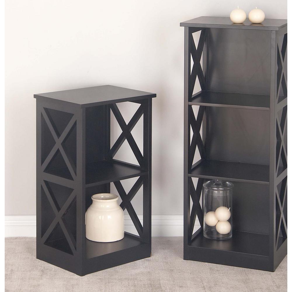 28 In X 16 In Modern 2 Tier Cube Shelving Unit In Wooden Shelving Units Cube Shelving Unit Shelves
