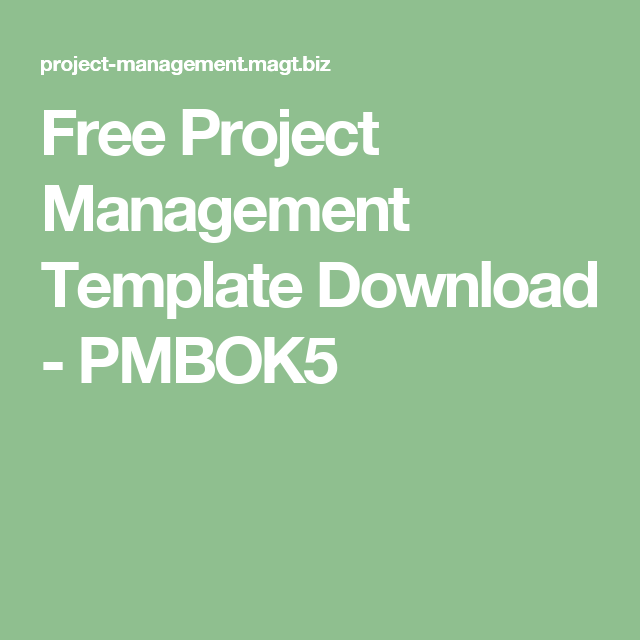Free Project Management Template Download - PMBOK5
