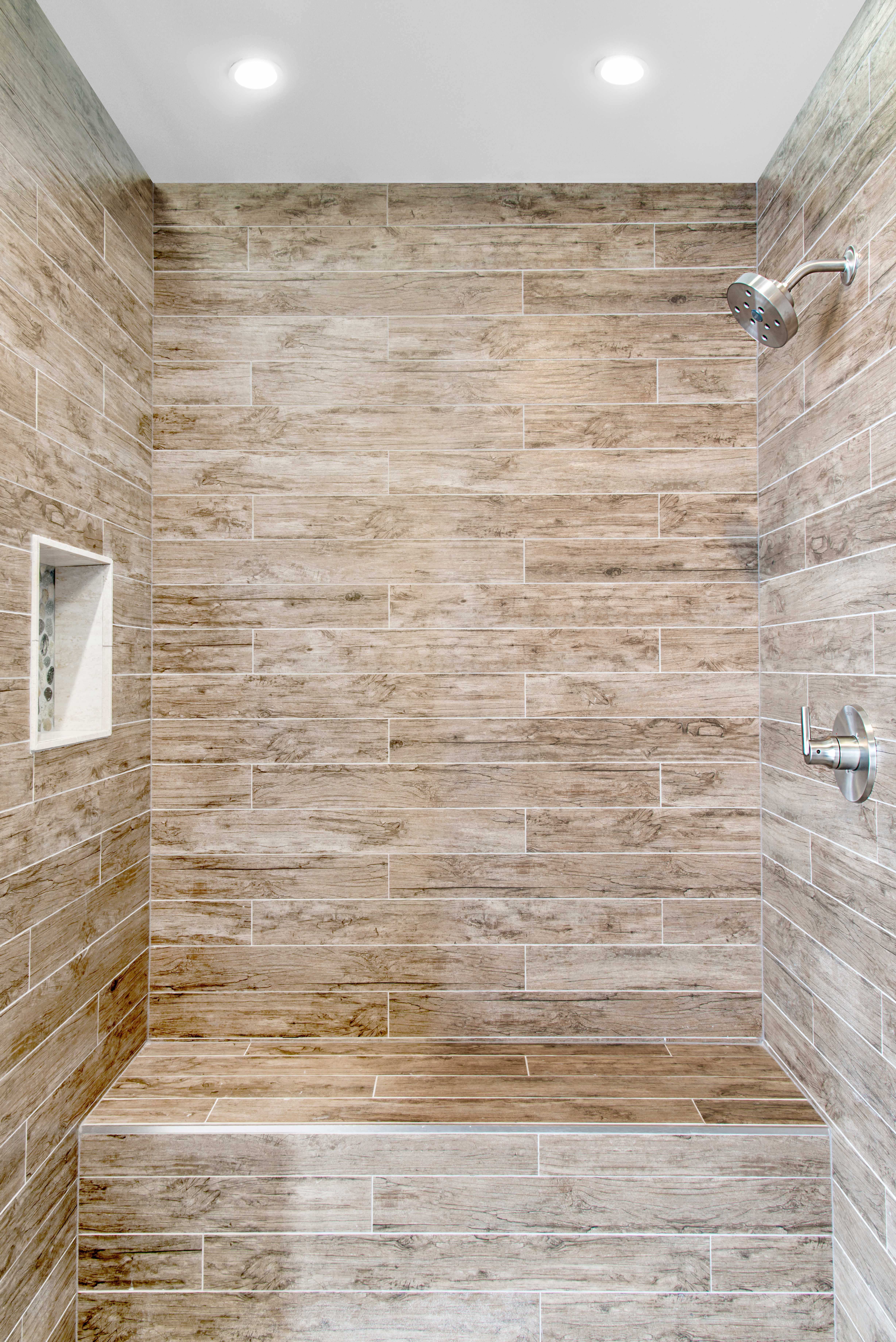 With a range of hues from toasted browns to warm auburn for Fake hardwood tile