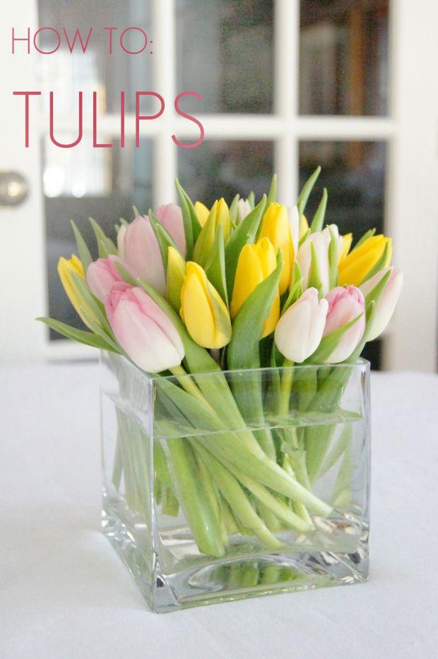 How To Tight Tulip Arrangement Diy Tulips Floraldesign Howto