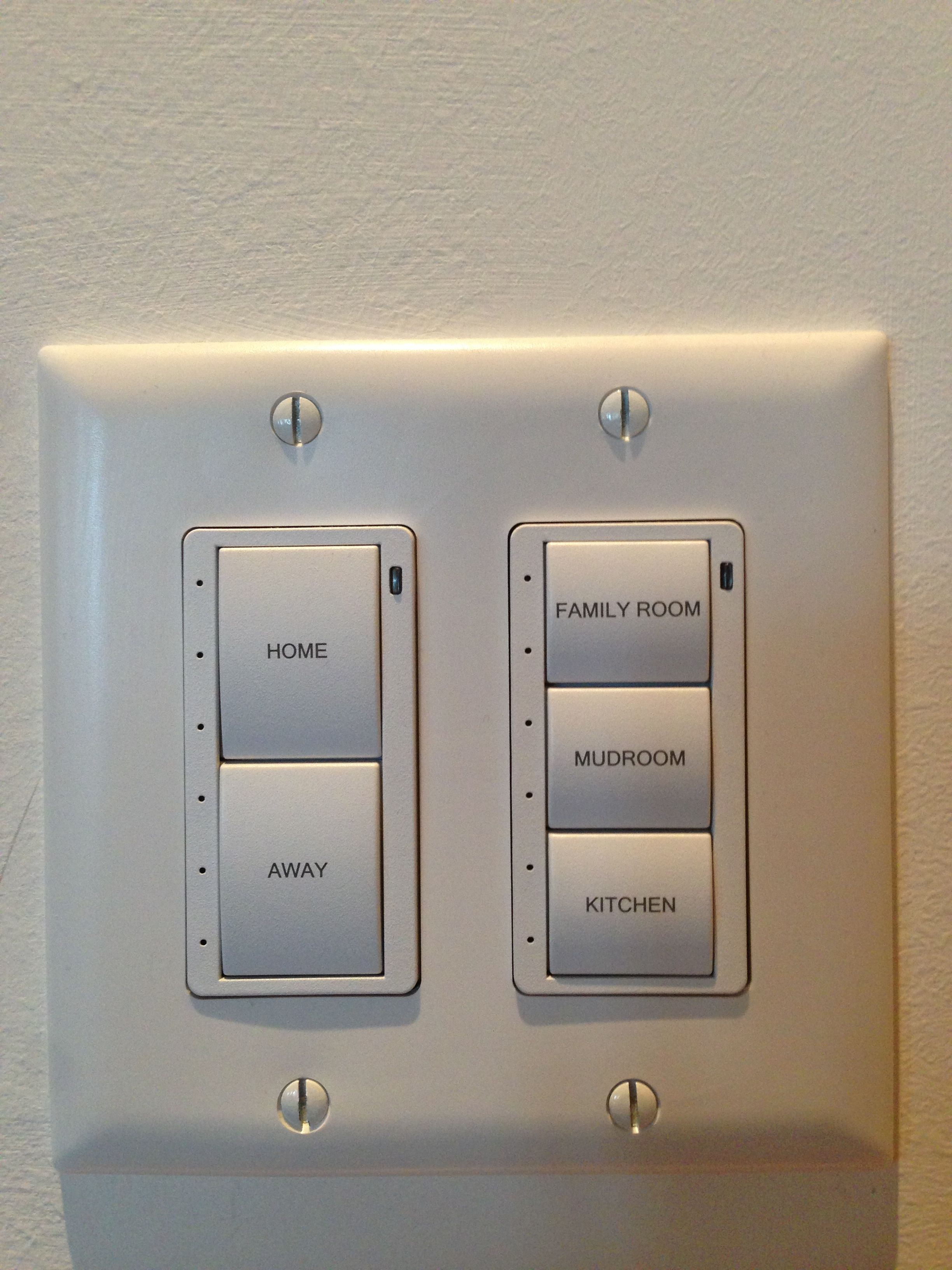 Style of lighting control keypad Stereo Types offers  These