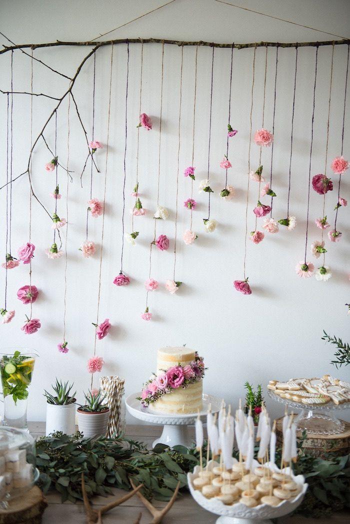 Boho & Bubbly Baby Shower #bridalshowerdecorations Boho & Bubbly Baby Shower via…