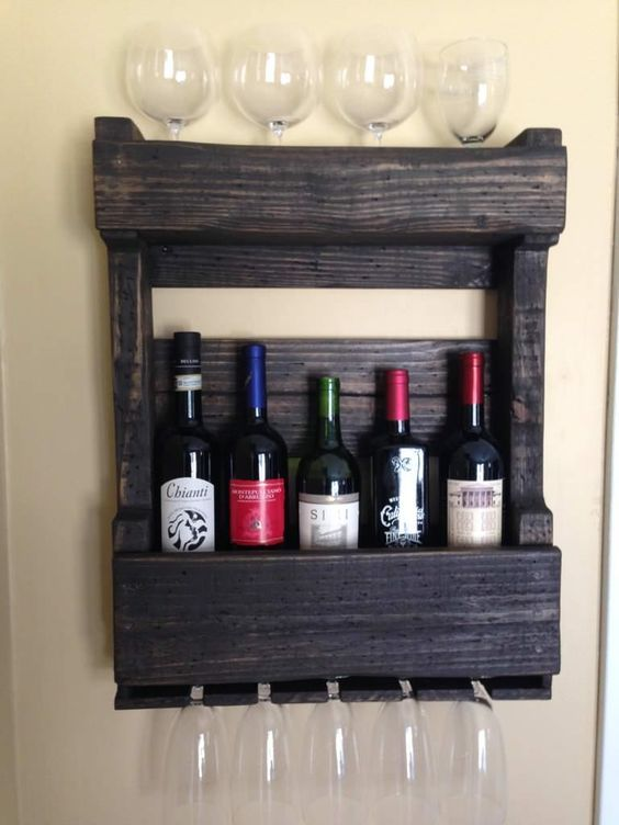 pallet wall wine rack. Cool Pallets Wall Wine Rack #kitchen #palletwall #palletwinerack\u2026 Pallet D