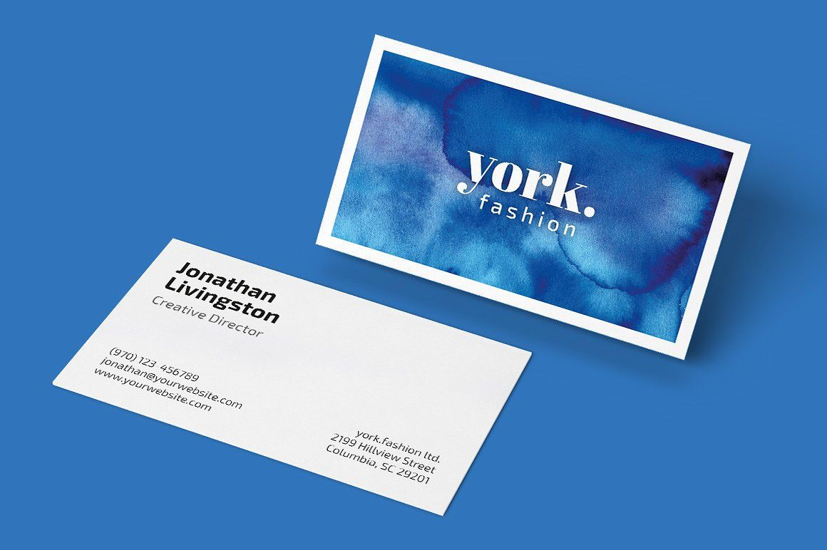 Watercolor Business Card + Artwork - Business Cards | Label Color ...