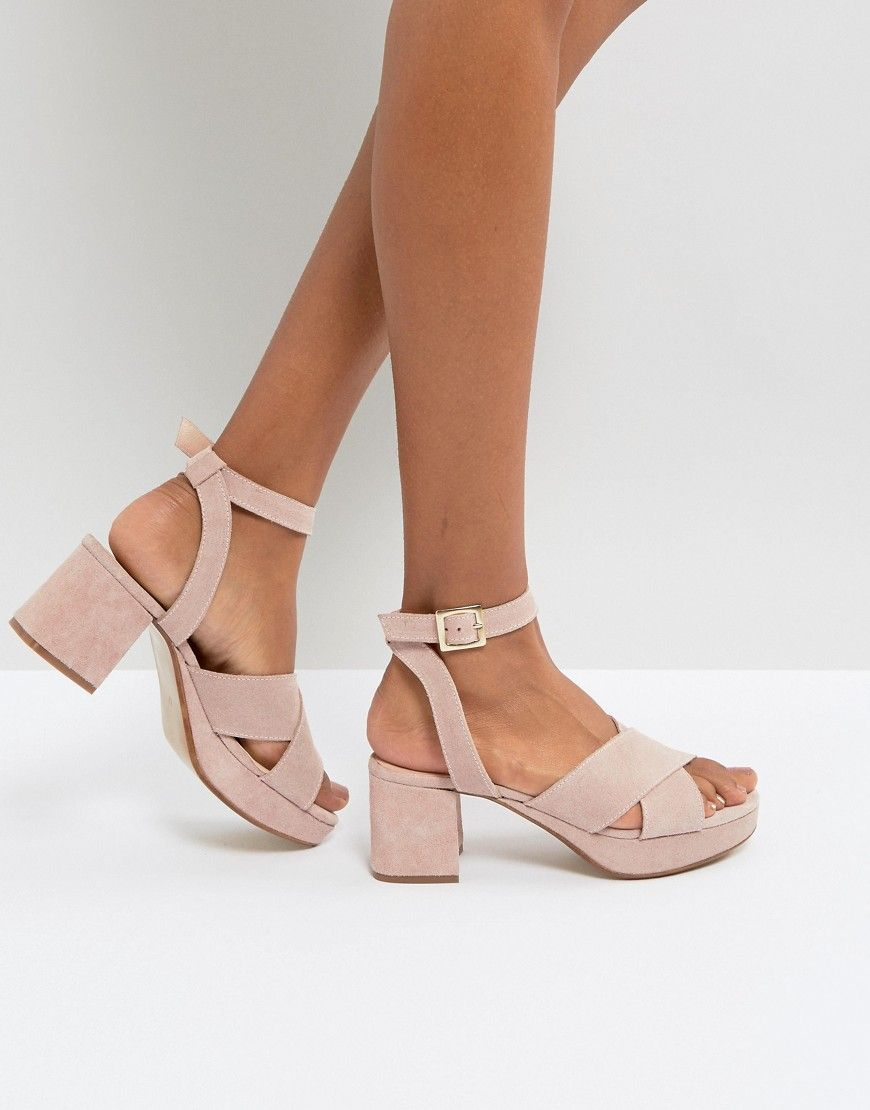 Depp Suede Kitten Heel Sandal Pink Kitten Heel Sandals Heels Mid Heel Sandals