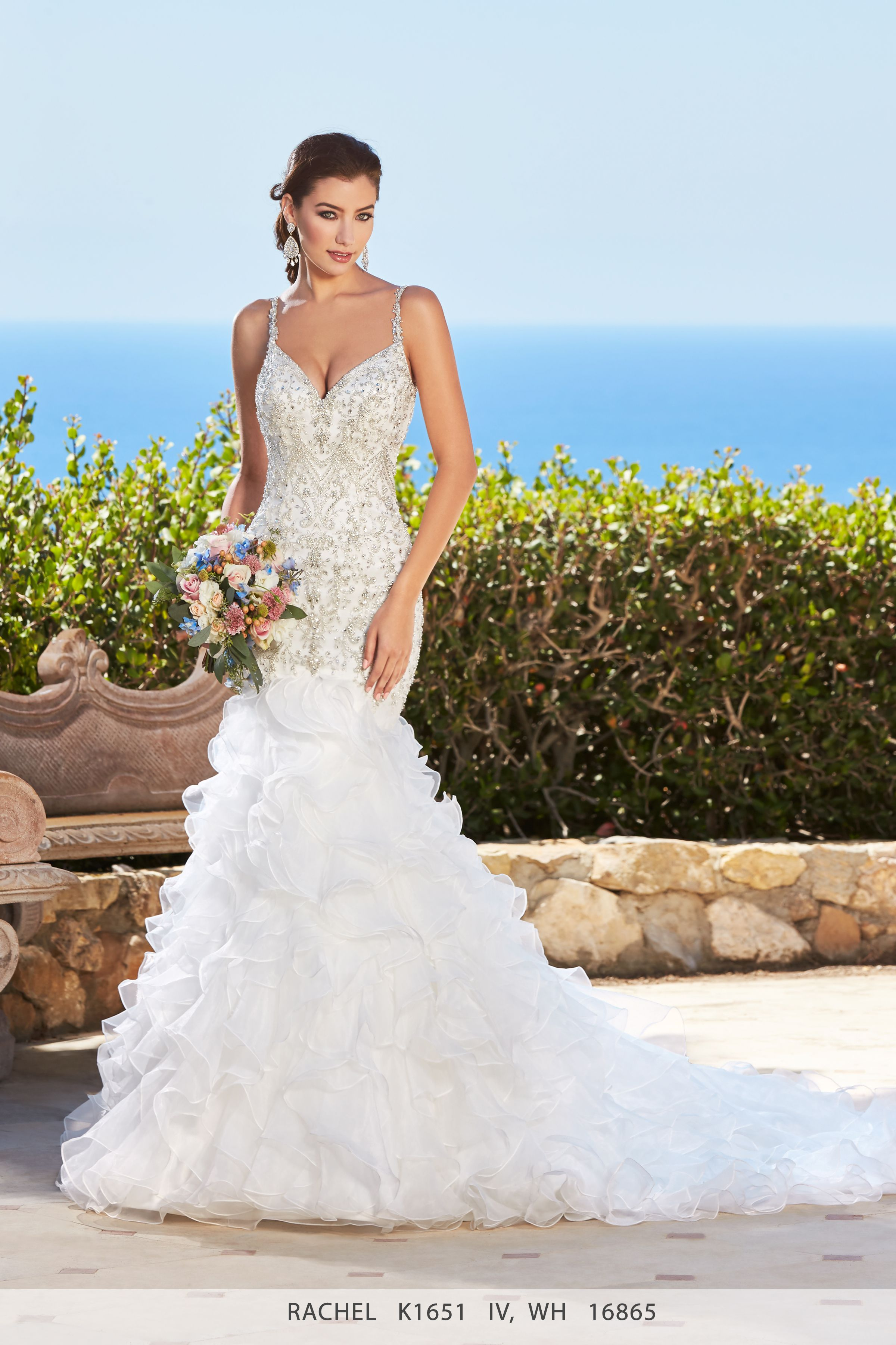 A gorgeous wedding dress named Rachel from Kitty Chen Couture. It is ...