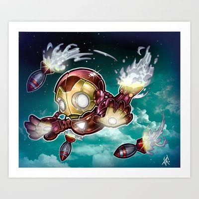 lil' Iron Dude Art Print by Tim Shumate - $22.88