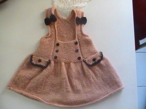 a7d1940b88ac robe tunique enfant au tricot 1 partie - YouTube
