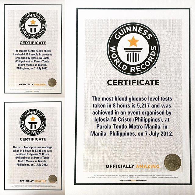 2012 marked the first year #iglesianicristo #churchofchrist broke 3 #guinnessworldrecords in a single #charityevent in the #philippines.  Please visit www.incmedia.org for more...