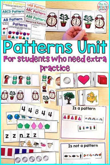 Patterns Math Unit Hands On Math Unit Special Education