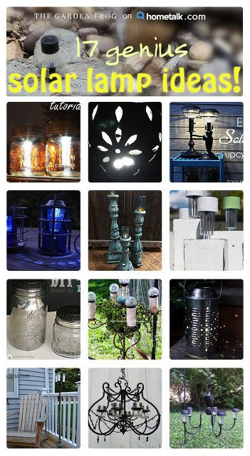 17 genius solar light ideas, lighting, outdoor living, repurposing upcycling
