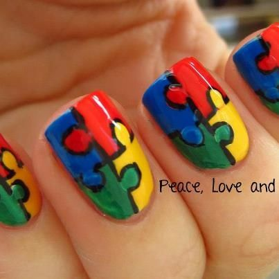 Autism awareness fingernails pretty autism awareness nails autism awareness fingernails pretty autism awareness nails nails diy prinsesfo Images
