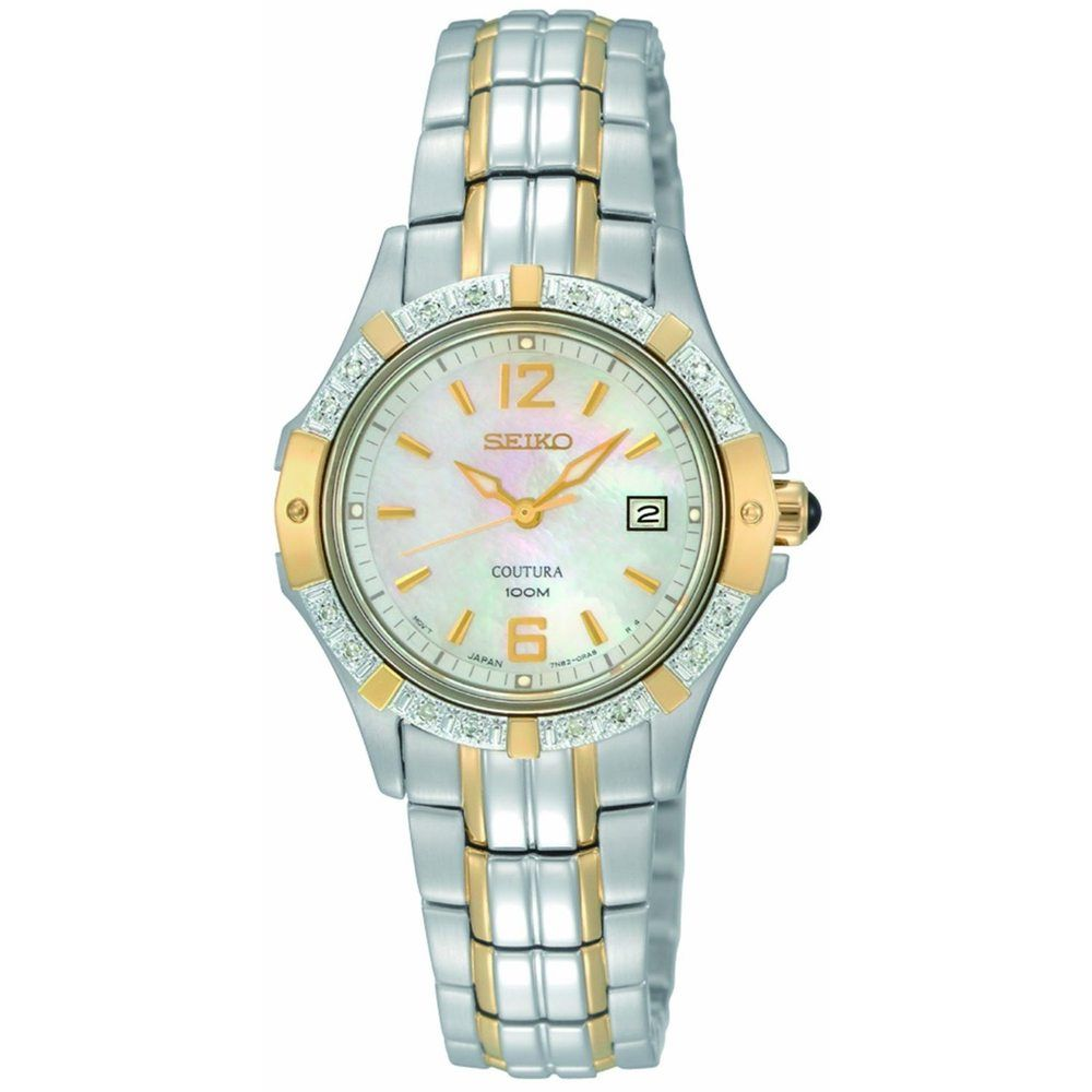 Seiko Women's Stainless Steel 'Coutura' Watch | Overstock.com