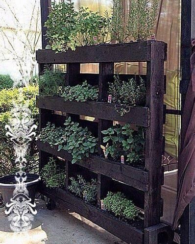 Jardinera Palets Marrón Oscuro Jardineras Con Palets Jardinería En Macetas Jardin Con Palets