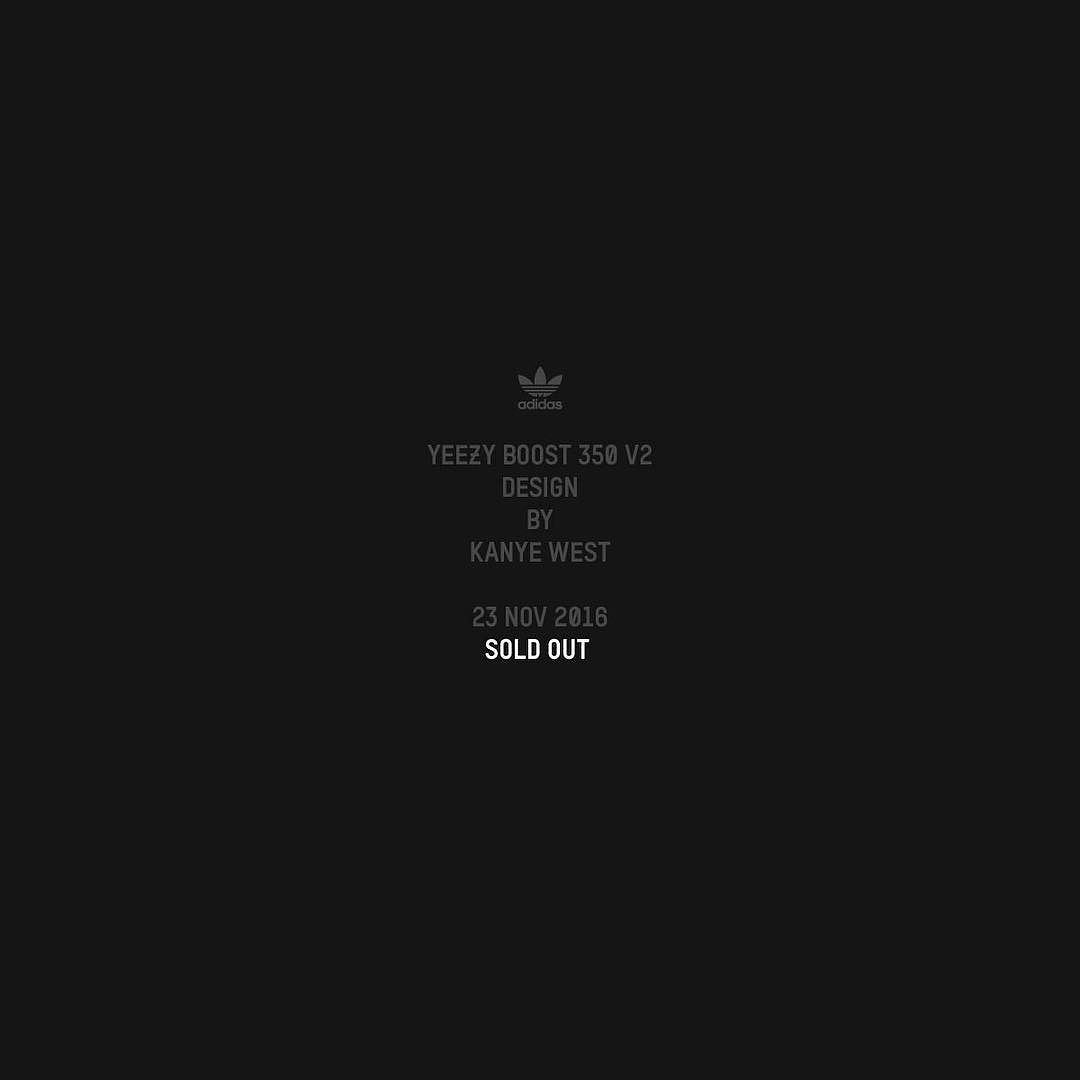 SOLD OUT The Adidas YEEZY BOOST 350 V2 Black Friday