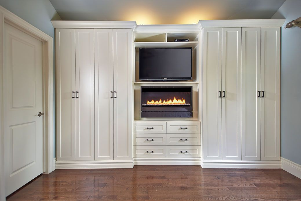 12 Excellent Built In Wall Units With Fireplace Photograph