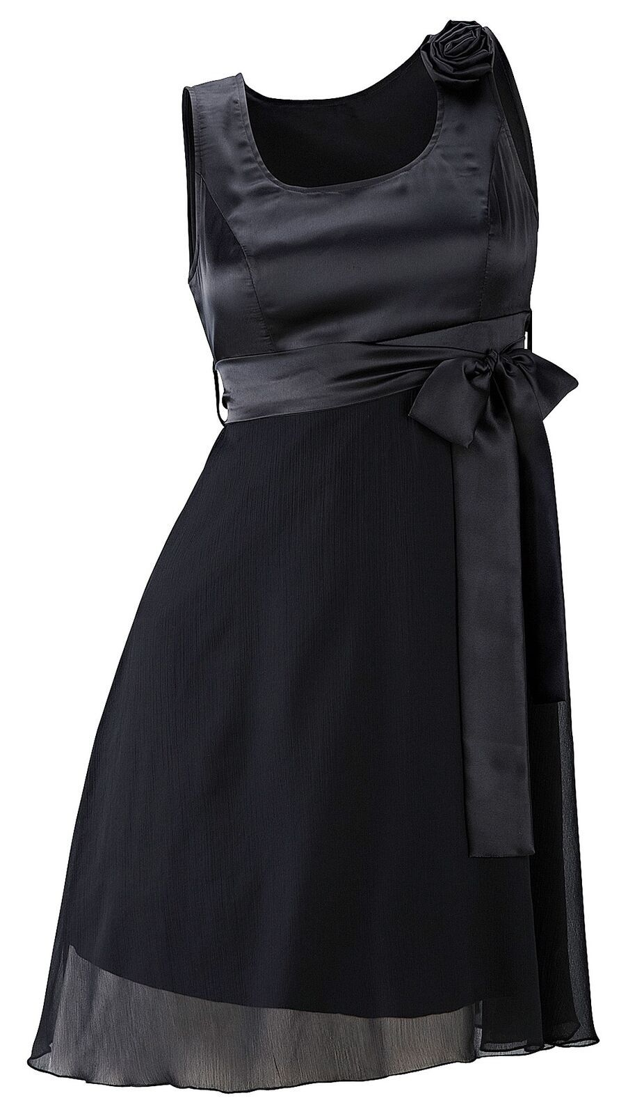 kleid gr. 40 schwarz damen-kleid abendkleid cocktailkleid