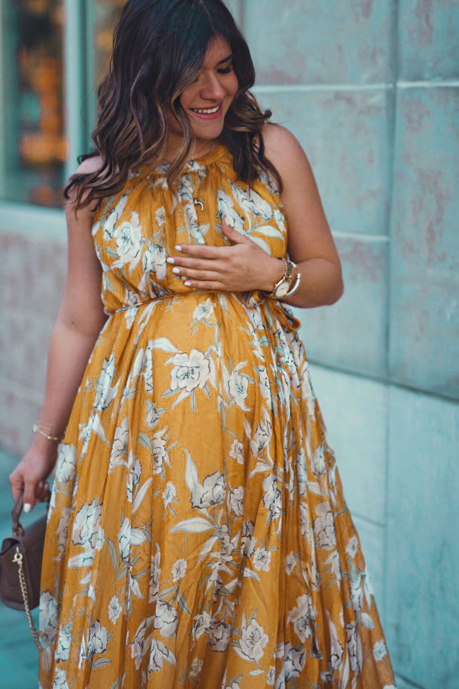 The Floral Dress You Need To Spice Up Your Summer Wardrobe Chic Talk Spring Maternity Outfits Maternity Dresses Spring Stylish Maternity Outfits