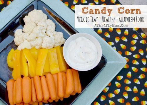 Healthy Halloween treat ideas, Candy Corn Veggie Tray, Healthy but ...