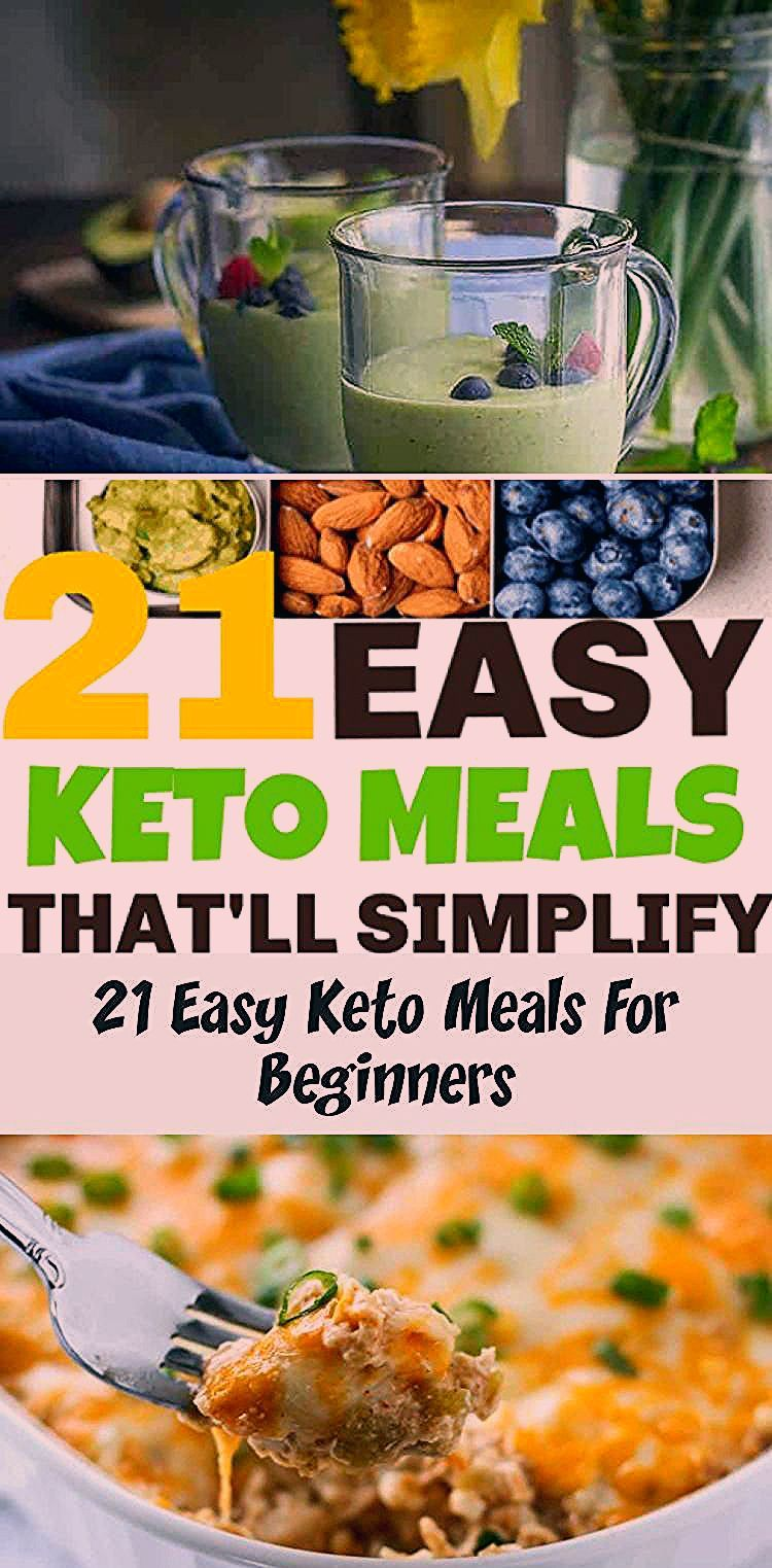 21 easy keto recipes for beginners. These easy keto meals are must know recipes if you're just starting a ketogenic diet. #keto #ketodiet #ketorecipes #lowcarb #SausageRecipes #HamburgerMeatRecipes #TacoRecipes #DinnerRecipes #SeafoodRecipes