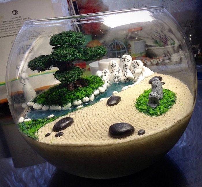 le chemin de la felicité ou mini jardin japonais en papier maché ...