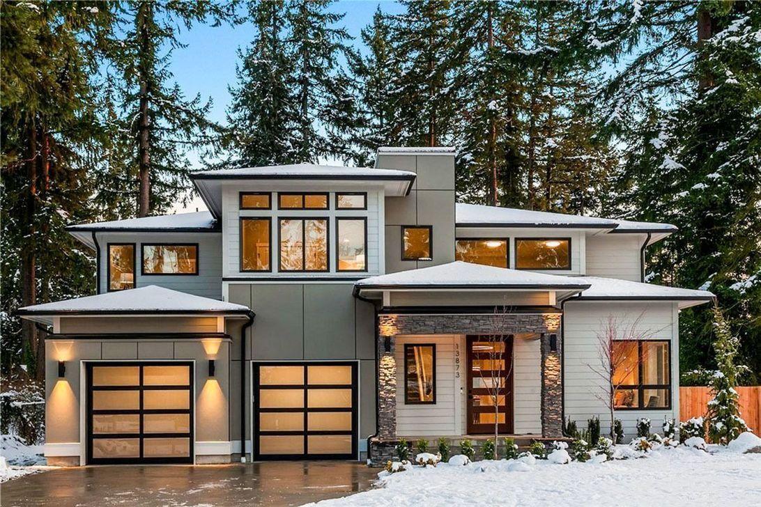 37 Stunning Contemporary House Exterior Design Ideas You Should Copy In 2020 Contemporary House Exterior Prairie Style Houses Contemporary House Plans
