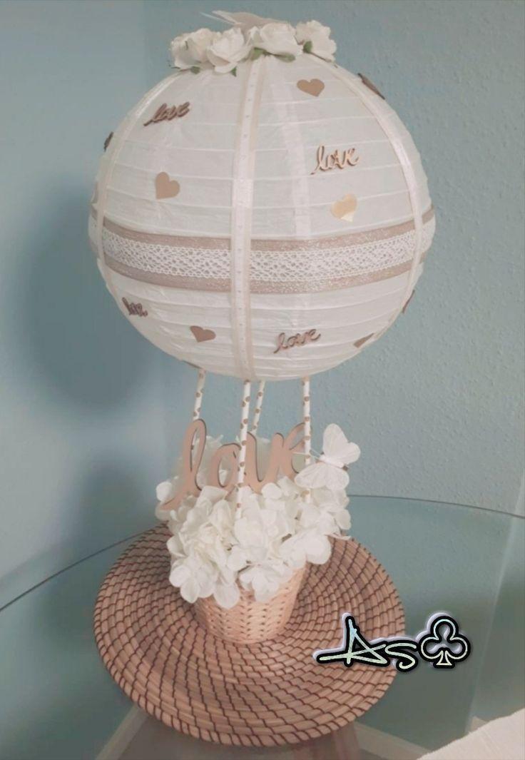 AS ♧: This is my interpretation of a hot air balloon as a wedding present ... - presents#air #balloon #hot #interpretation #present #presents #wedding