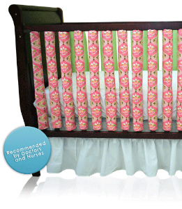Wonder Bumpers - Breathable Crib Bumper, Baby Bedding That Prevents SIDS, & Crib Bumpers Safety....neat idea