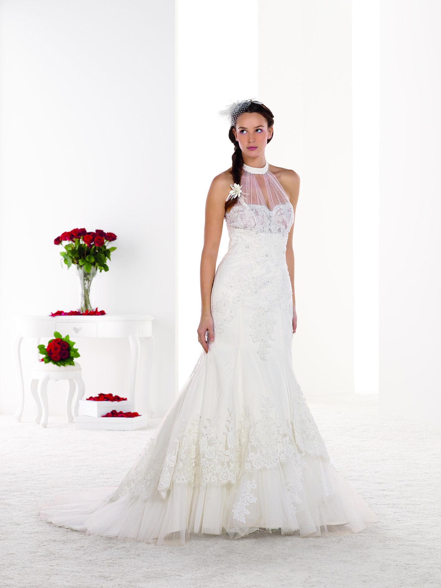 MELLE ARIELLE Robe de mariée silhouette sirène en dentelle ...